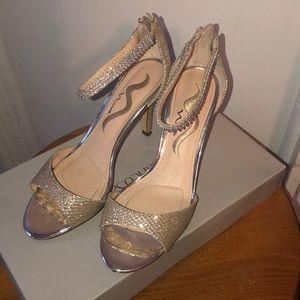 Nina gold heels